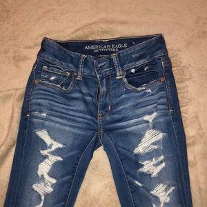 denim cropped jeans